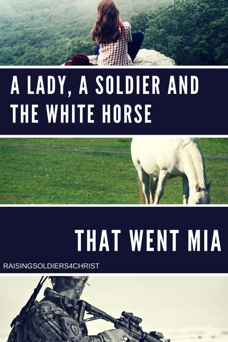 A lady, A Soldier, and the White Horse that went MIA