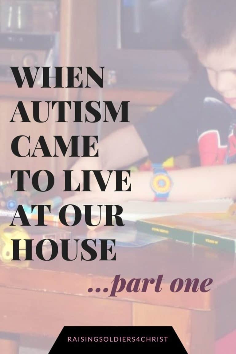 When Autism came to live at our house-Part 1