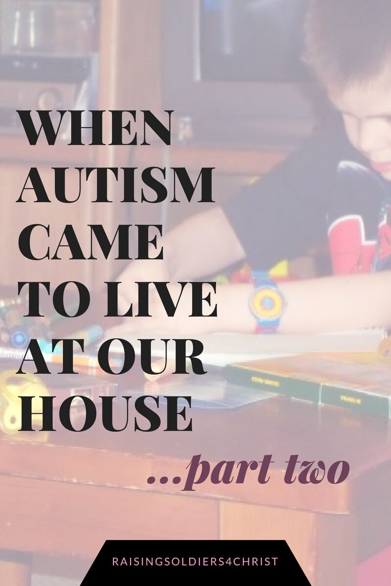 When Autism Came to Live at Our House….Part 2