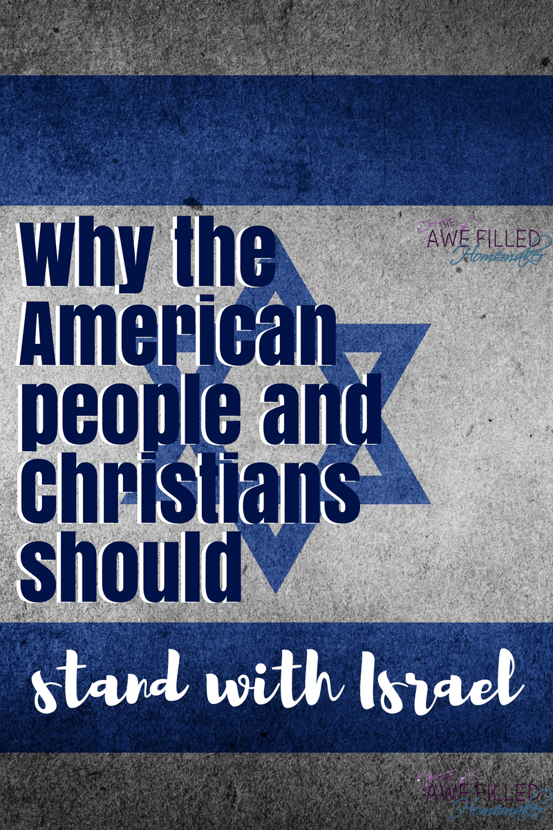 American People and Christians should stand WITH Israel