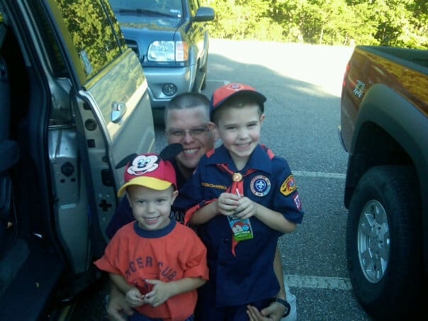 Andrew's first night as a Tiger Scout