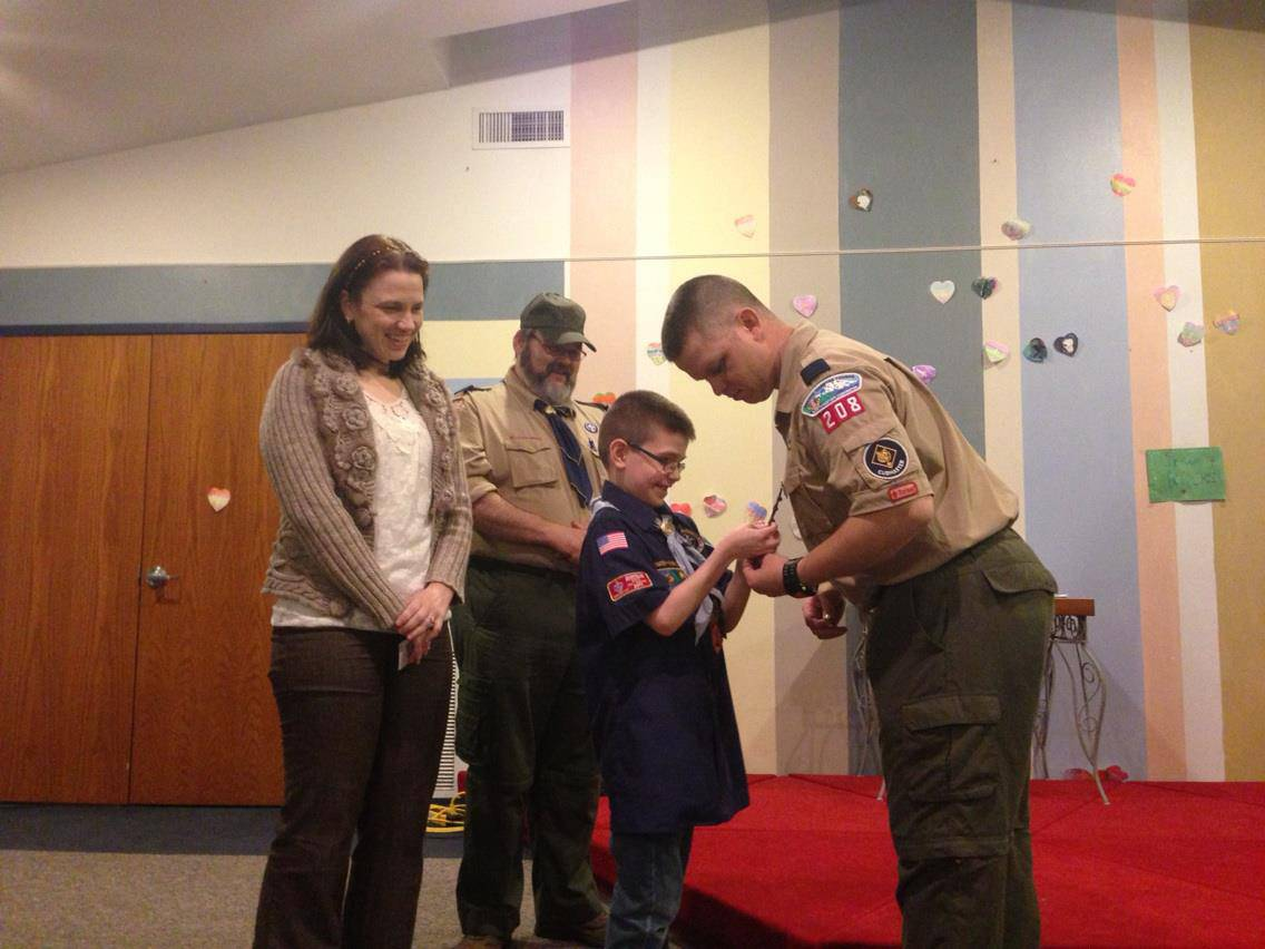 Last Ranking as a Cub Scout and God and Me award