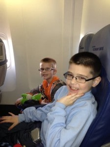 A and X on plane