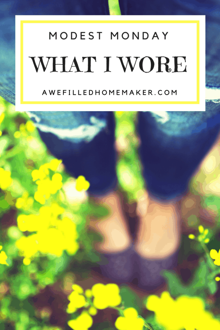 Modest Monday…..What I wore :)