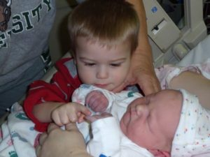 Caleb and Xander birth