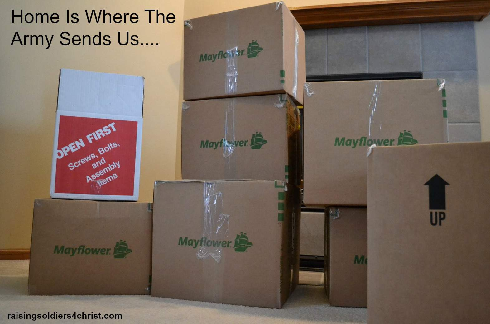 Military Moving Home is where the Army sends us