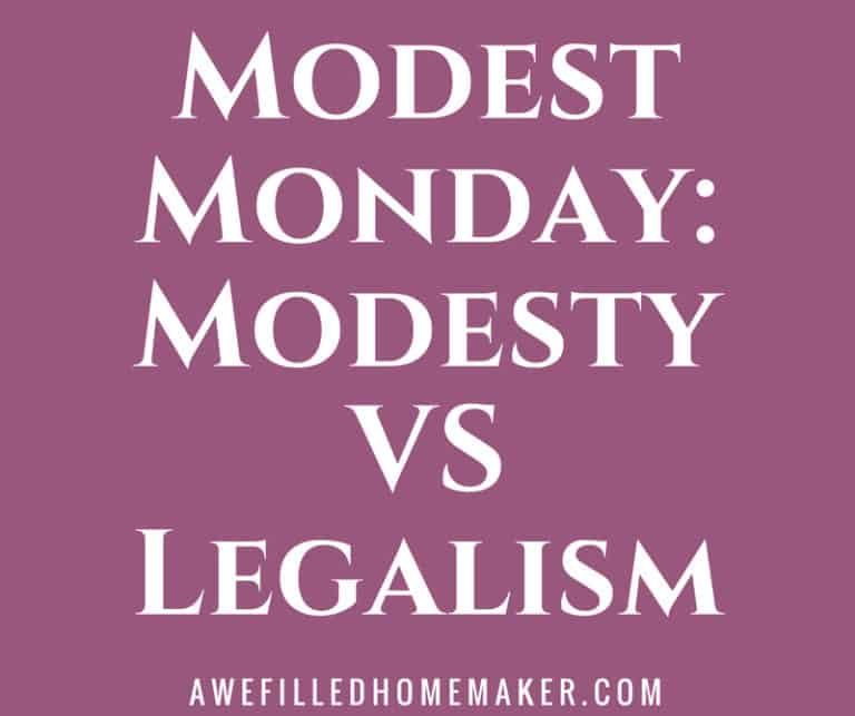 Modest Monday: Modesty vs Legalism