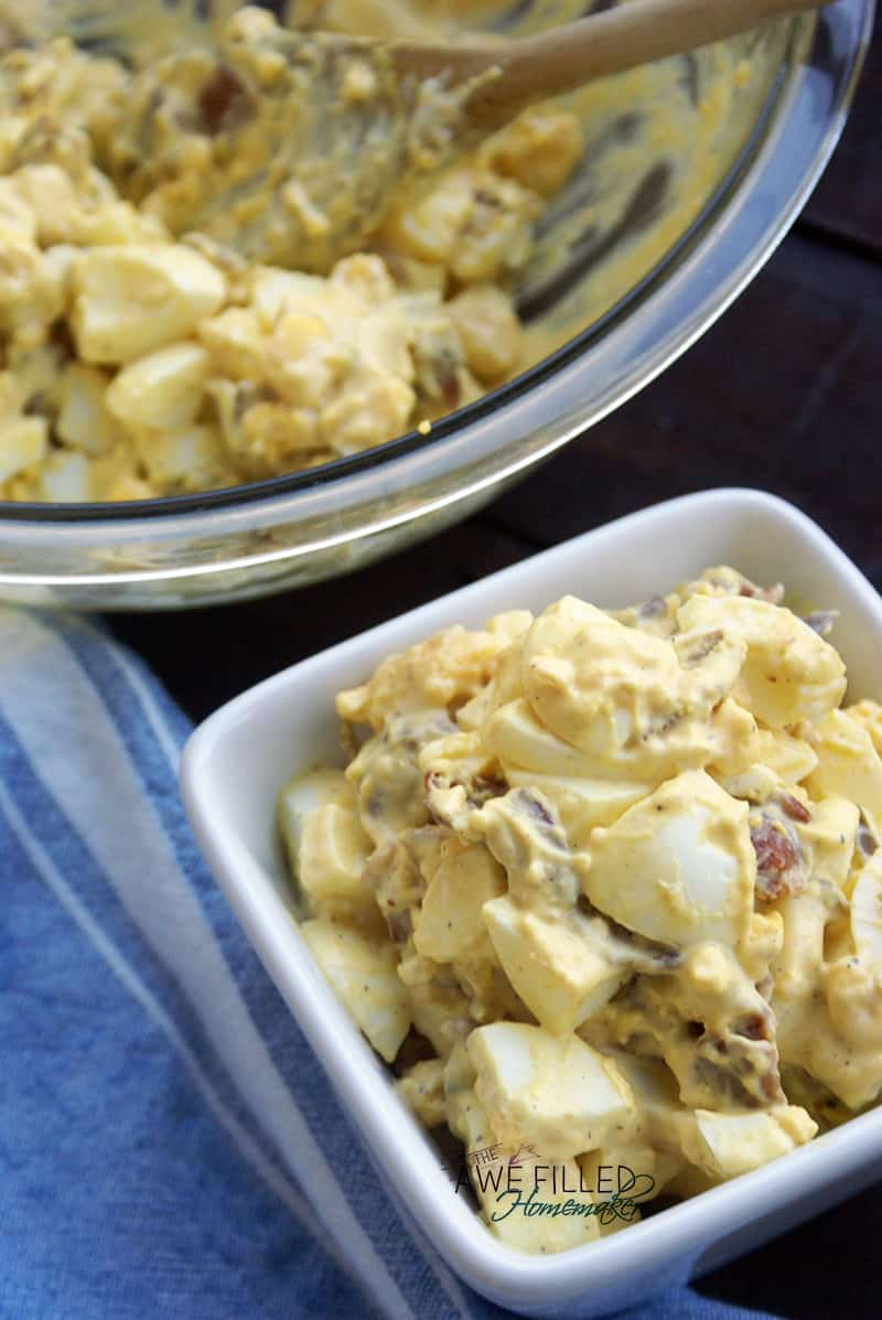 Sweet and Spicy Bacon Egg Salad