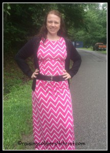 Modest Monday-Pink Chevron