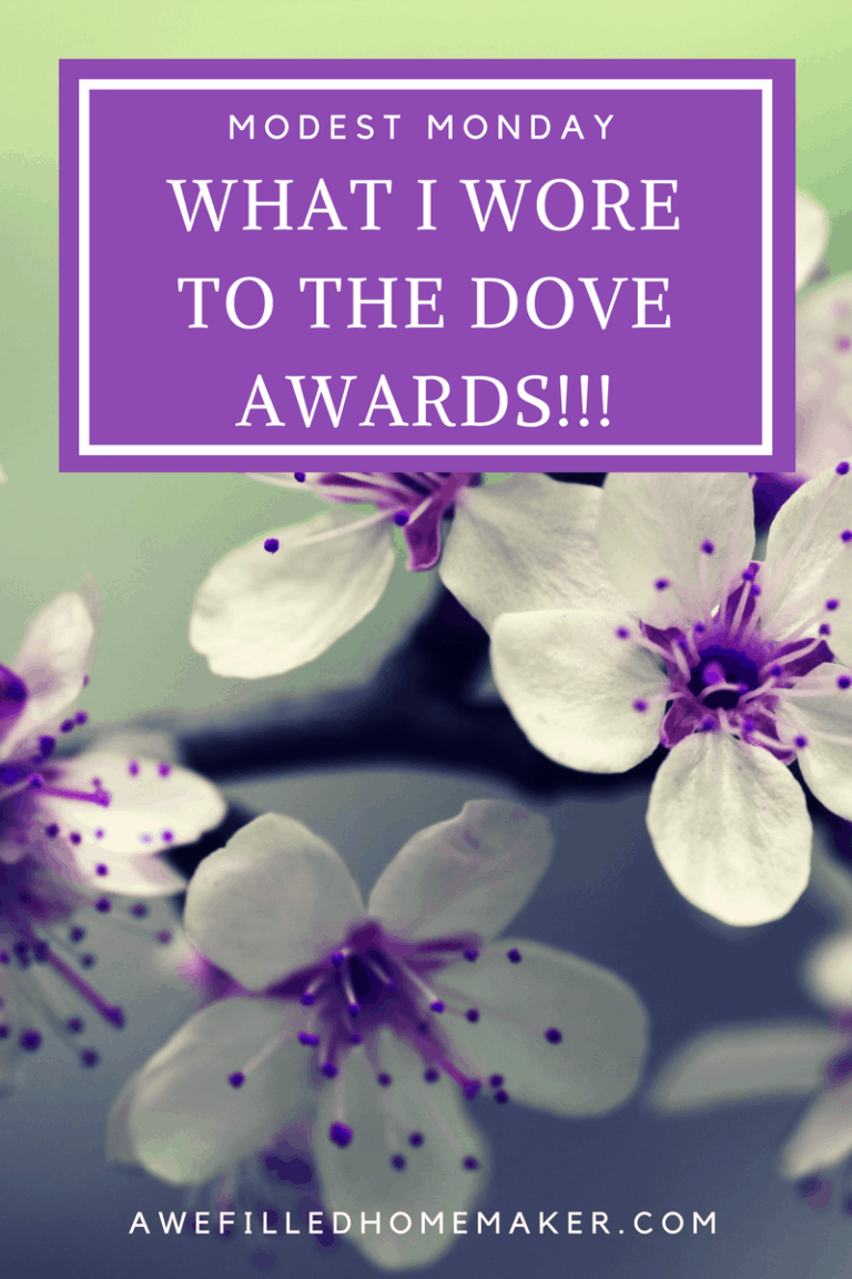 Modest Monday: What I wore to the Dove AWARDS!!!