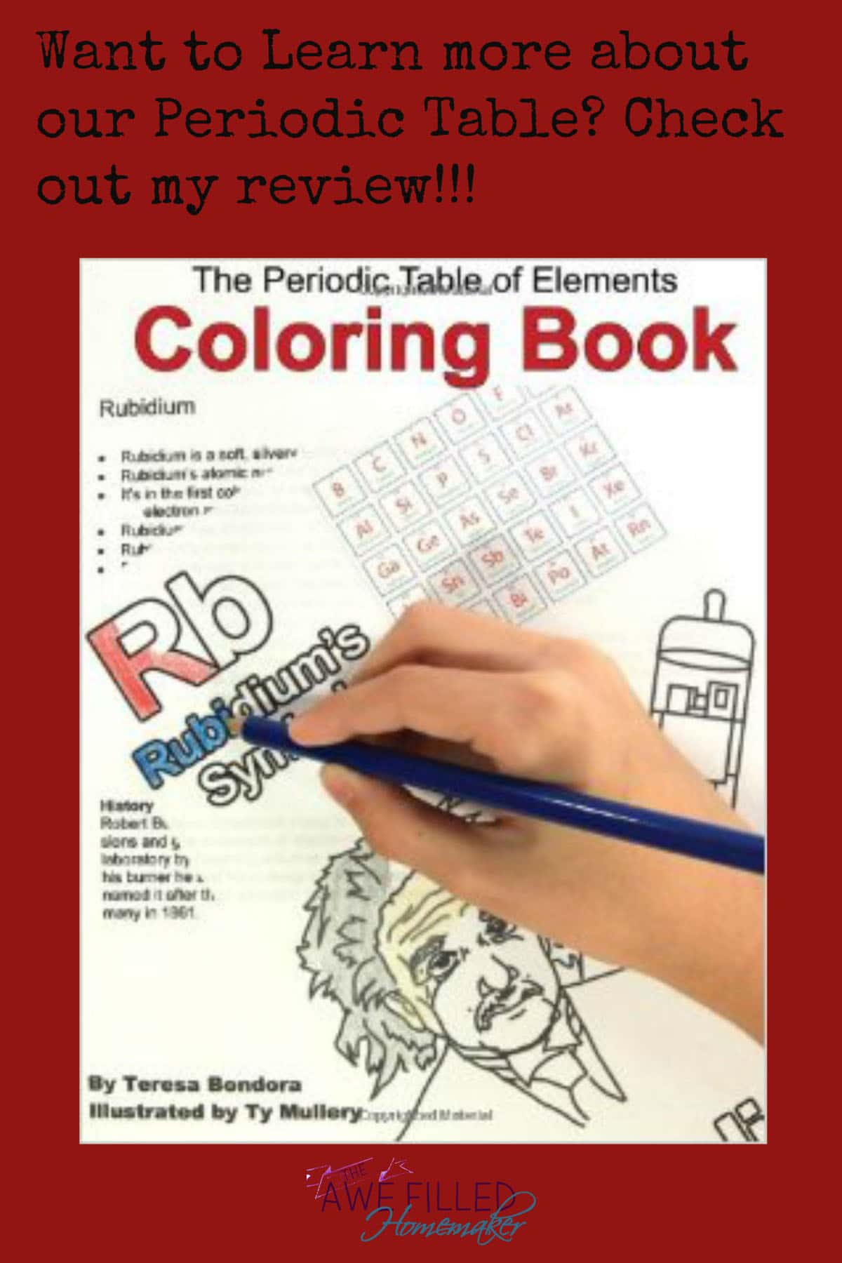 The periodic table of elements coloring book awe filled homemaker gamestrikefo Gallery