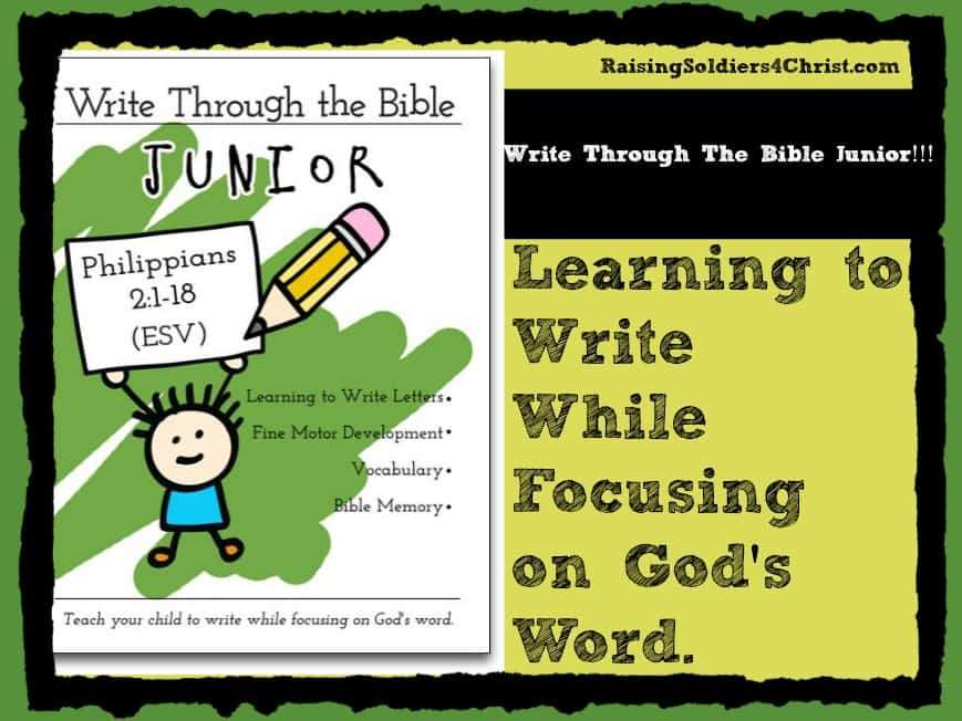 Write Through The Bible Junior Graphic