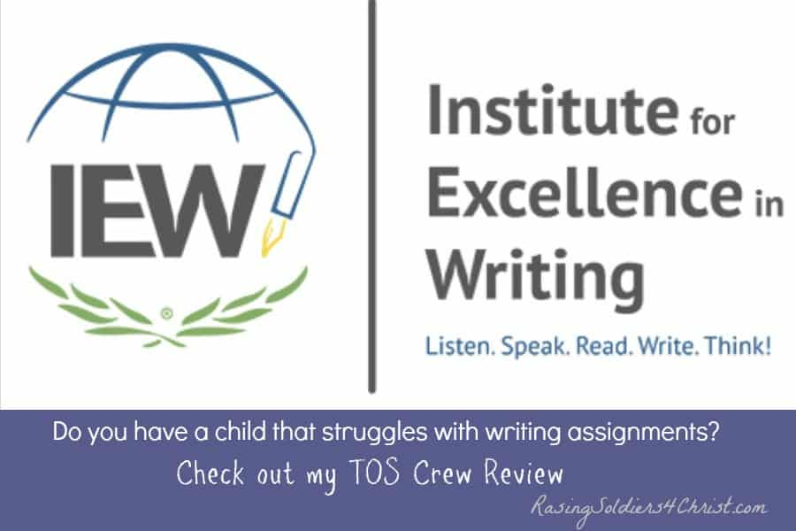 Institue For Excellence in Writing {A TOS CREW REVIEW}