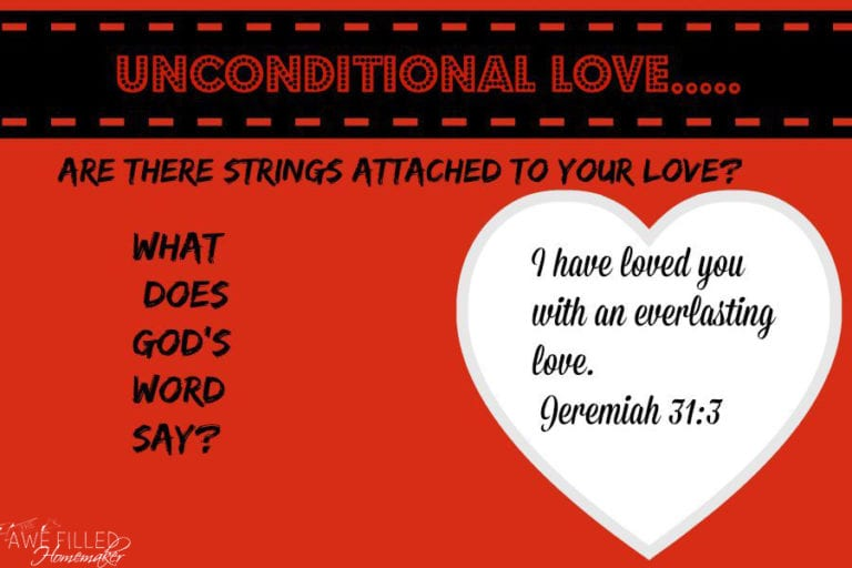 Unconditional Love When You Want Conditions