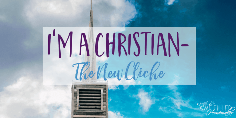 I'm a Christian – The New Cliche