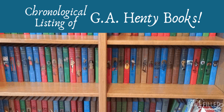 Chronological Listing of G.A. Henty Books!
