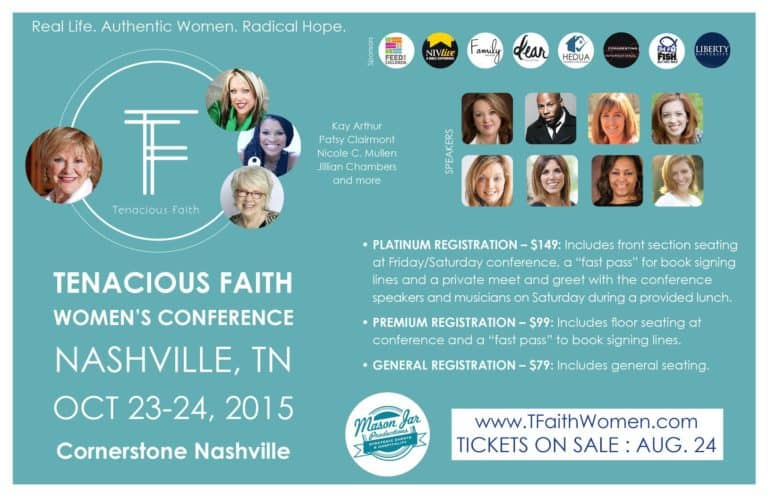 Tenacious Faith! Military Wives—You Won't Want To Miss This Event!