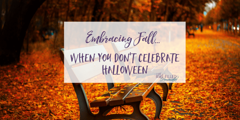 Embracing Fall When You Don't Celebrate Halloween {Printable}