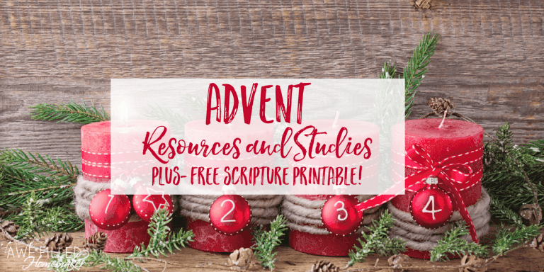 Advent Resources and Studies with a FREE Scripture Printable!