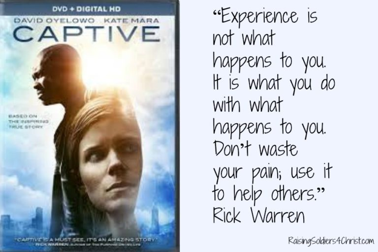 What The Movie Captive Meant To Me…..