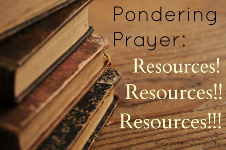 Pondering Prayer: Resources