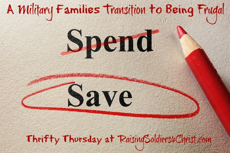 Thrifty Thursday: A Military Families Transition to Being Frugal