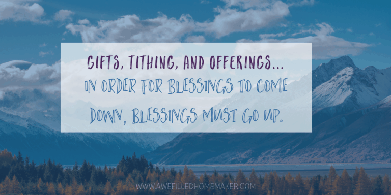 Gifts, Tithing, and Offerings…