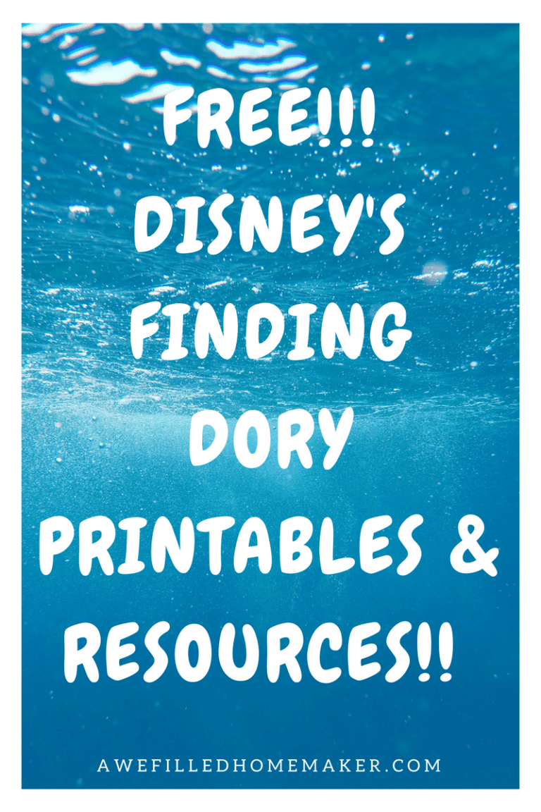 FREE!!! Disney's Finding Dory Printables & Resources!!!
