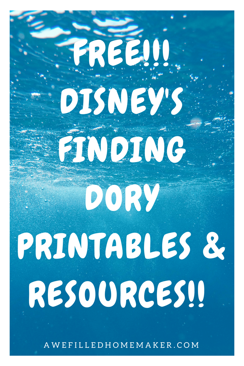 FREE!!! DISNEY'S FINDING DORY PRINTABLES & RESOURCES!!