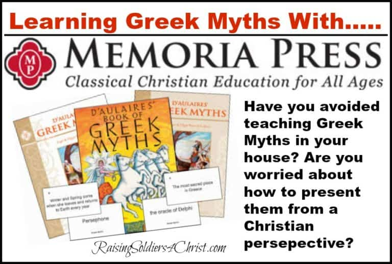 Learning Greek Myths with Memoria Press