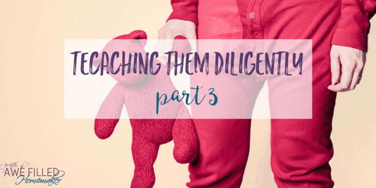 Teaching Them Diligently-Part 3 {Resources}