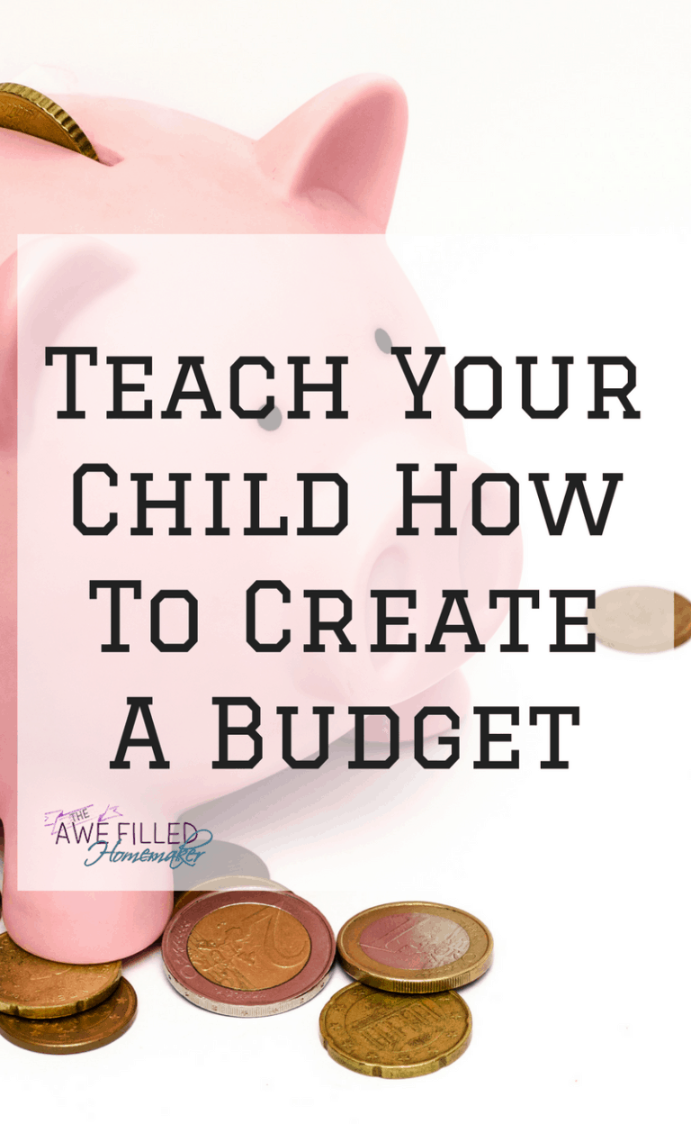 Teach Your Child How To Create A Budget