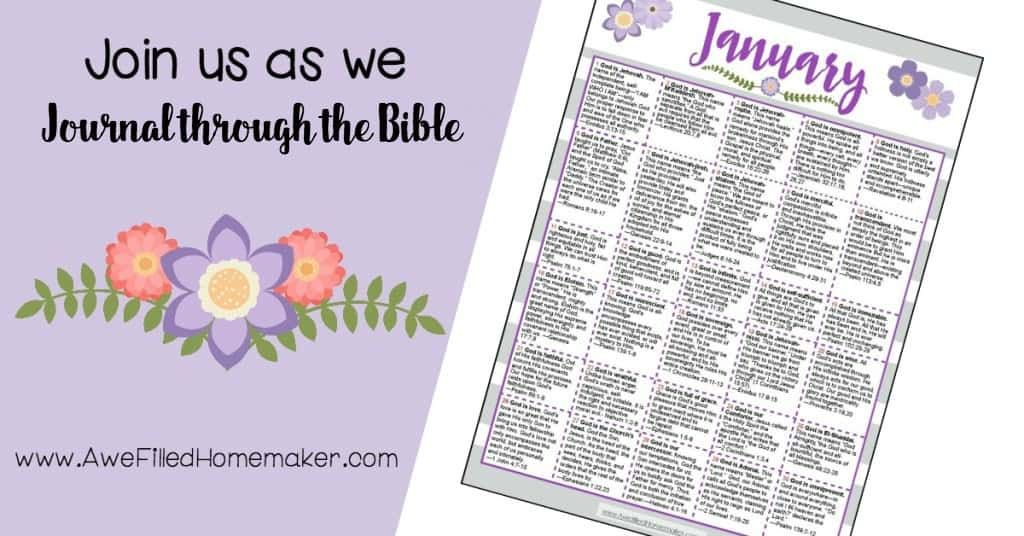 January Journal Through the Bible: Names of God