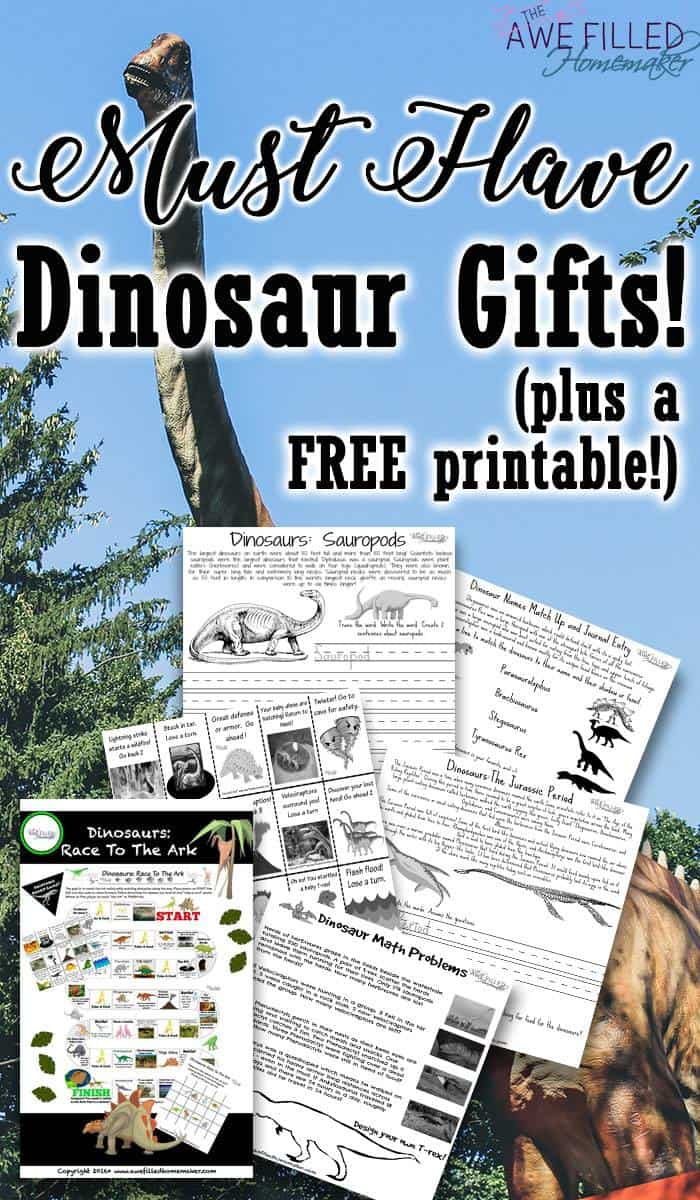 Must Have Dinosaur Gifts! PLUS Free Dinosaur Learning Packet!