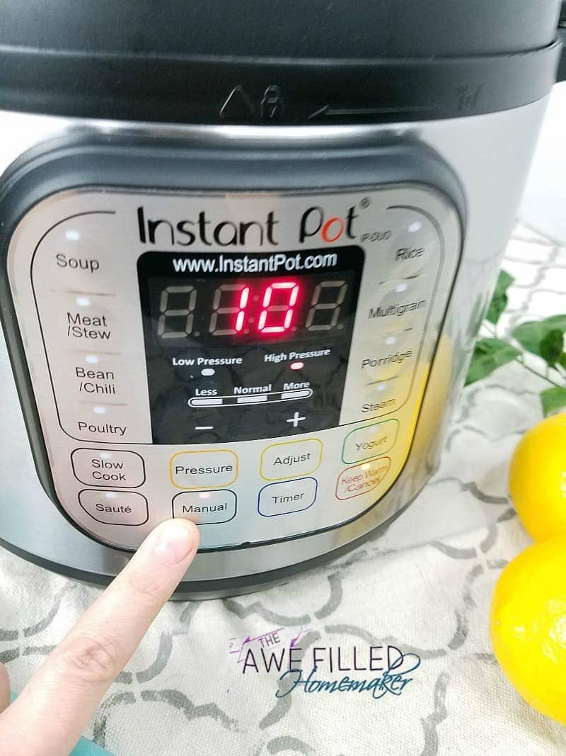 Select the Instant Pot Manual Setting to override auto mode.