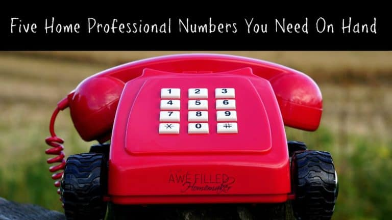 Five Home Professional Numbers You Always Need On Hand