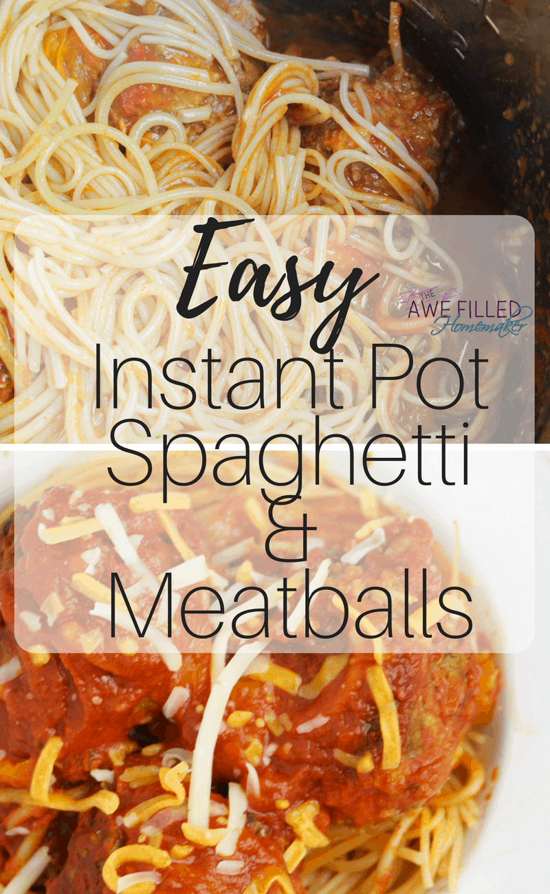 Easy Instant Pot Spaghetti and Meatballs