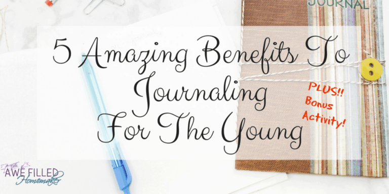 5 Amazing Benefits To Journaling For The Young+ Activity!