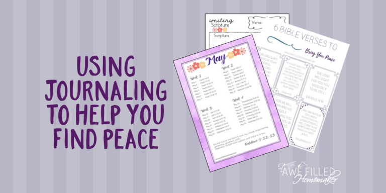 Using Journaling To Help You Find Peace