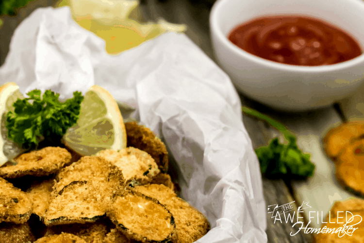 Air Fryer Zucchini Parmesan Chips are a healthy and delicious snack or appetizer