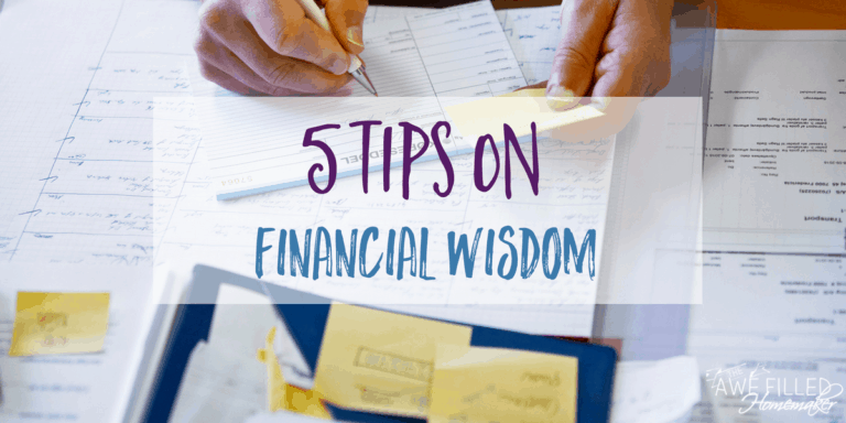 5 Tips on Financial Wisdom