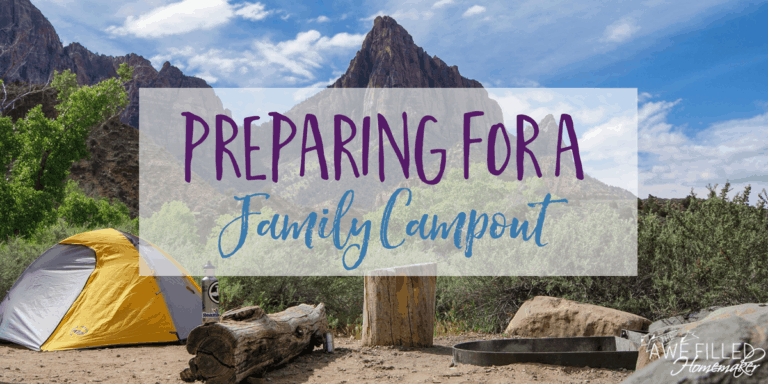 Preparing For a Family Campout
