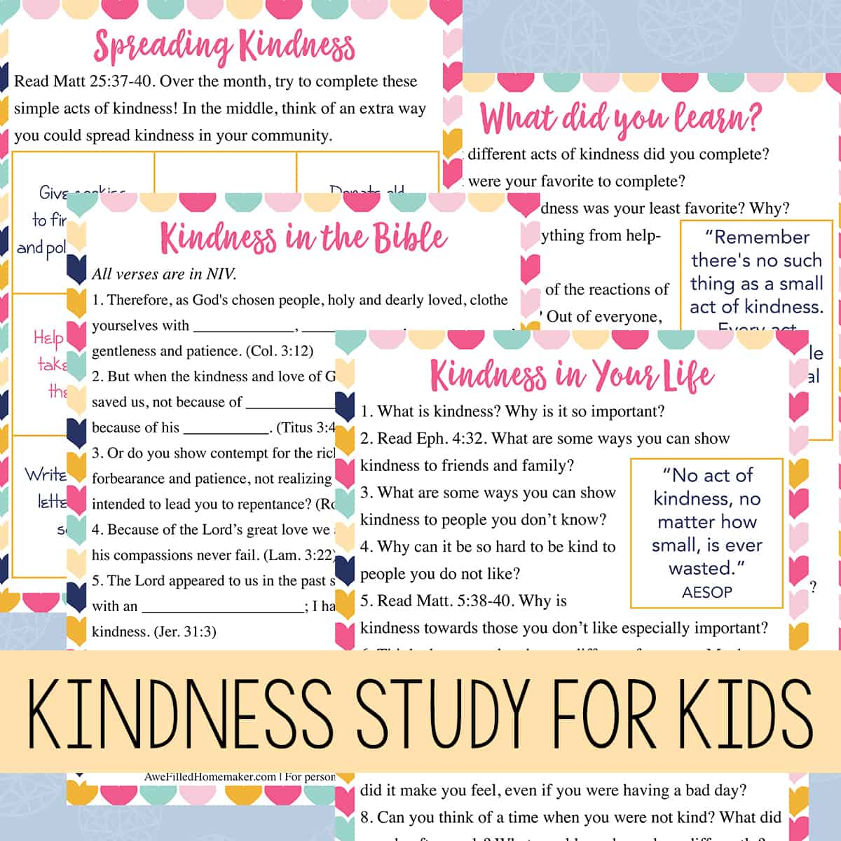 Kindness Study For Kids