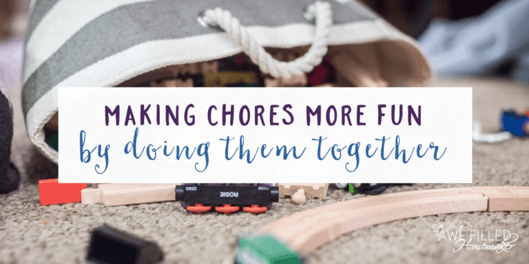 Make Chores More Fun by Doing Them Together
