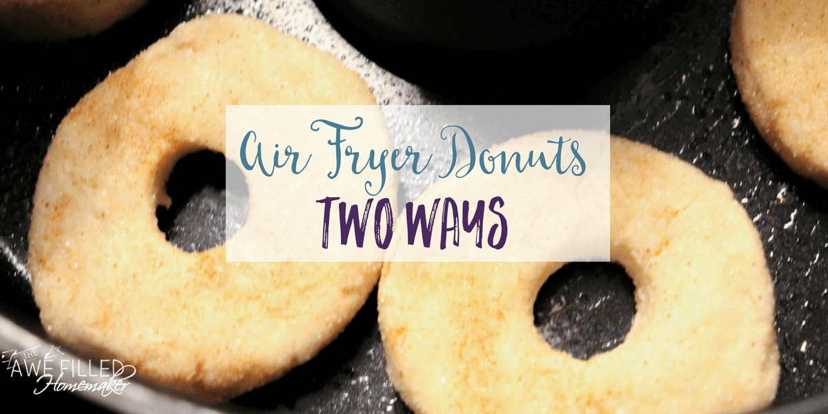 Here's a quick air fryer donut made 2 different ways