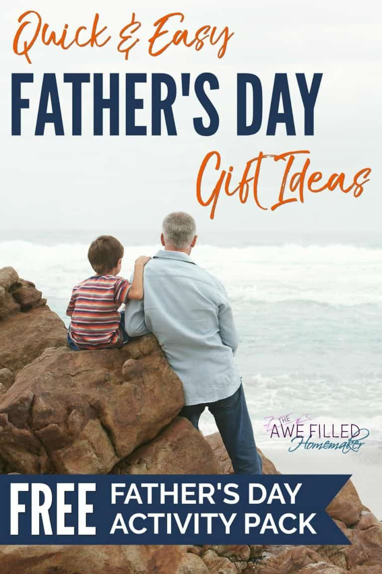 Quick & Easy Father's Day Gift Ideas +FREE Printable Pack!