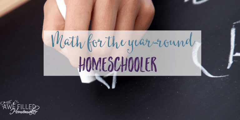Math For the Year-Round Homeschooler