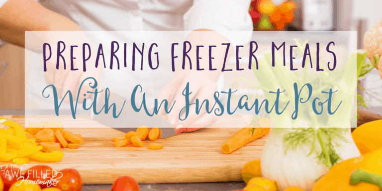 Preparing Freezer Meals With an Instant Pot