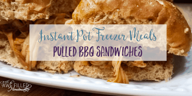Instant Pot Freezer: Pulled BBQ Chicken Sandwiches
