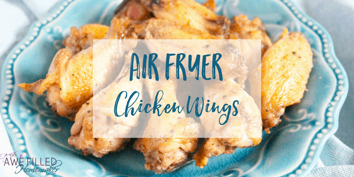 Air Fryer Chicken Wings Recipe for crispiness and flavor!